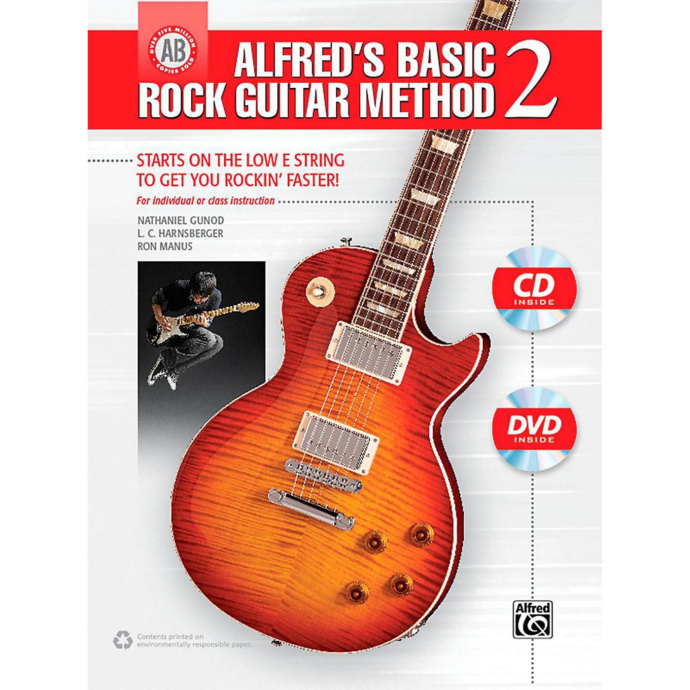 Alfred Alfred's Basic Rock Guitar Method 2 Book, CD & DVD thumbnail