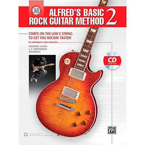 Alfred Alfred's Basic Rock Guitar Method 2 Book & CD-thumbnail