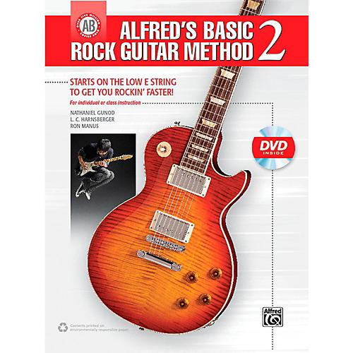 Alfred Alfred's Basic Rock Guitar Method 2 Book & DVD thumbnail