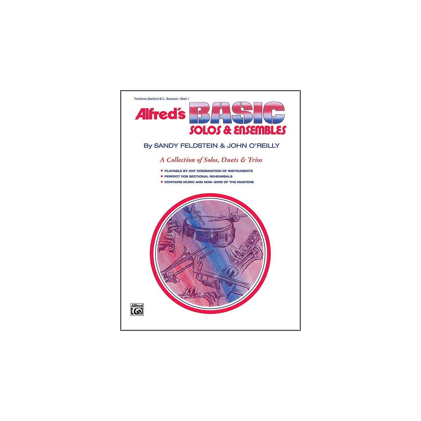 Alfred Alfred's Basic Solos and Ensembles Book 1 Trombone Baritone B.C. Bassoon thumbnail