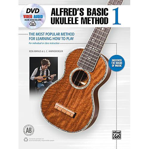 Alfred Alfred's Basic Ukulele Method 1 Book, DVD & Online Audio & Video Beginner thumbnail