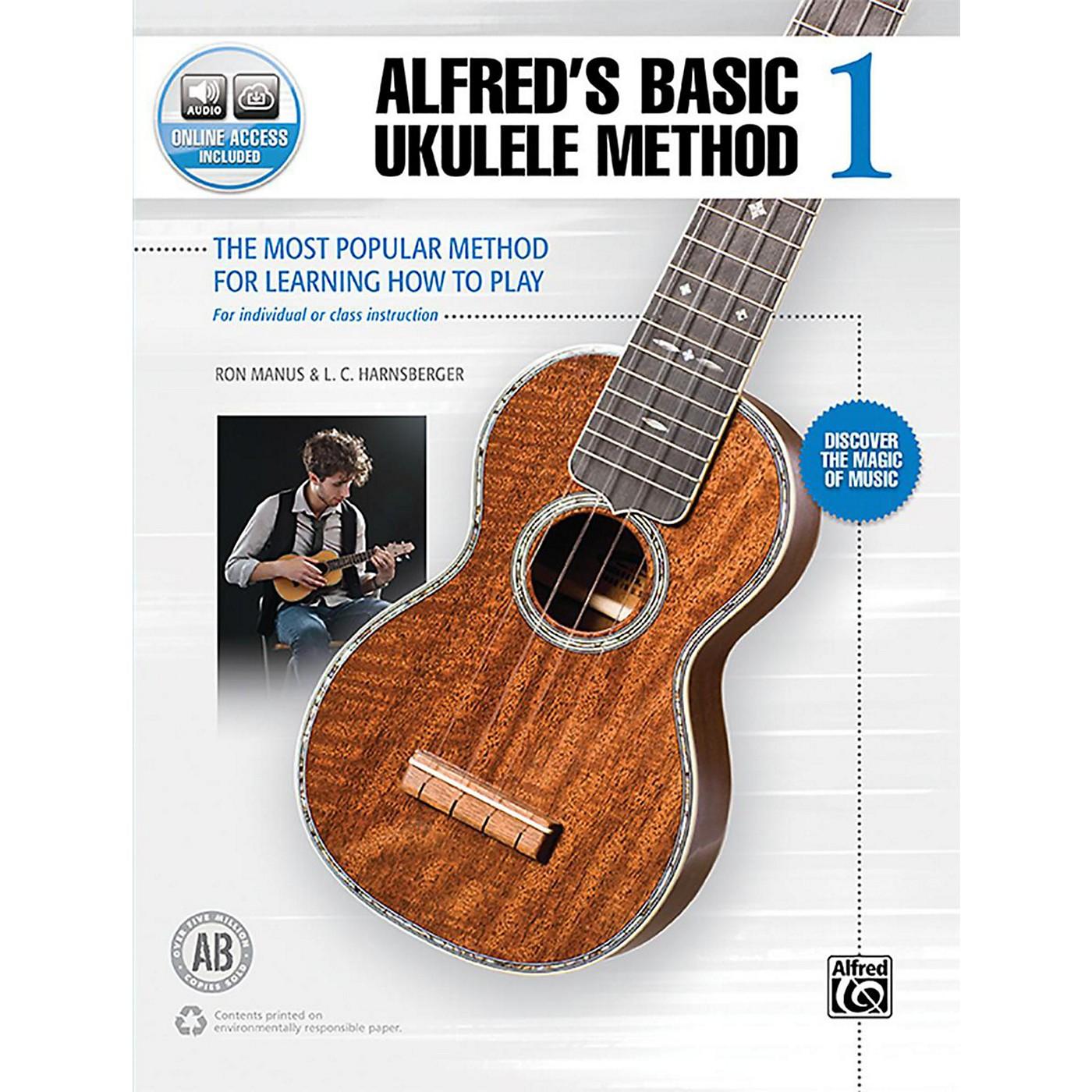Alfred Alfred's Basic Ukulele Method 1 Book & Online Audio Beginner thumbnail