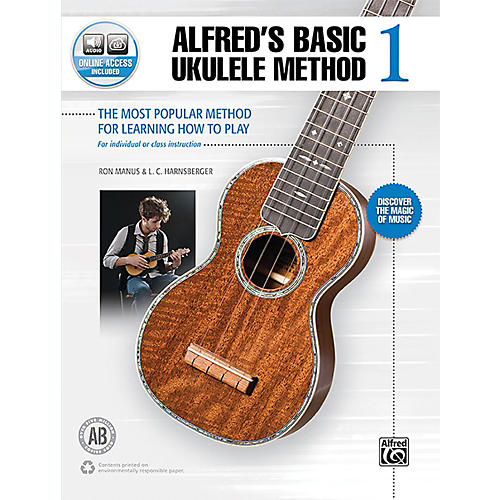 Alfred Alfred's Basic Ukulele Method 1 Book & Online Audio Beginner thumbnail