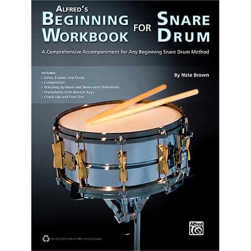 Alfred Alfred's Beginning Workbook for Snare Drum Book thumbnail