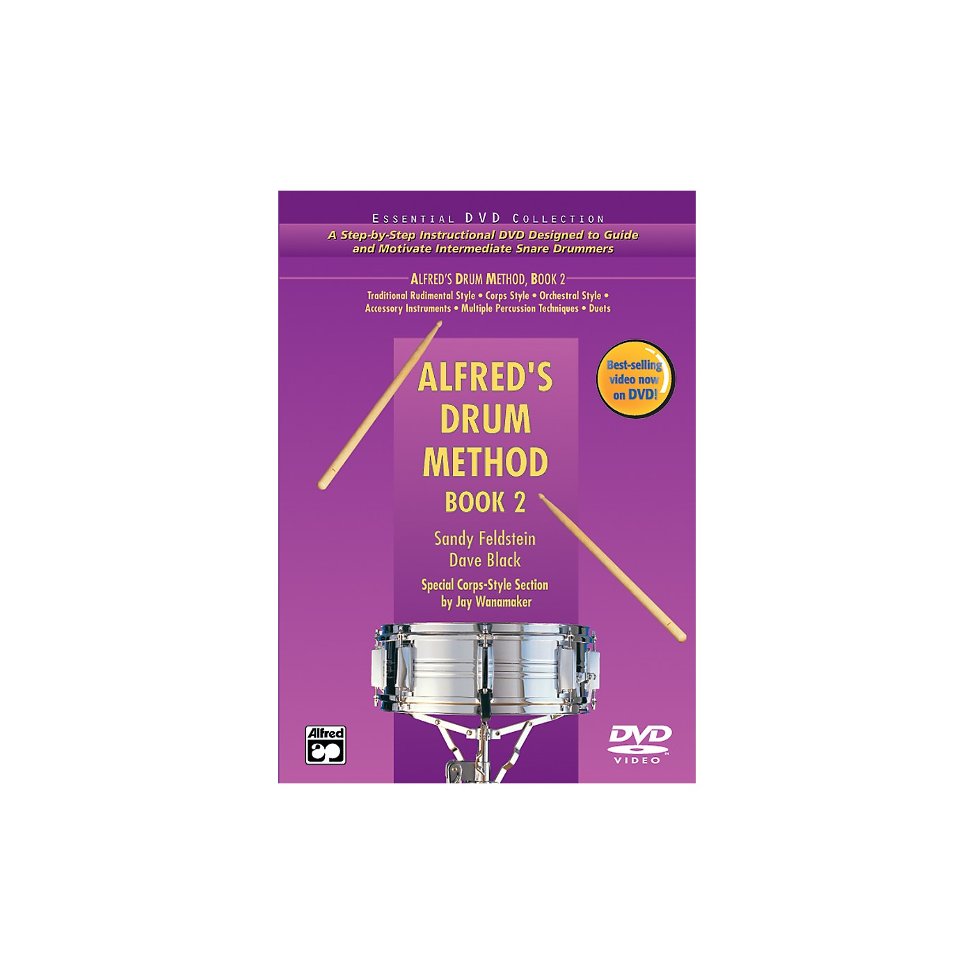 Alfred Alfred's Drum Method Book 2 Book & DVD in Hard Case thumbnail