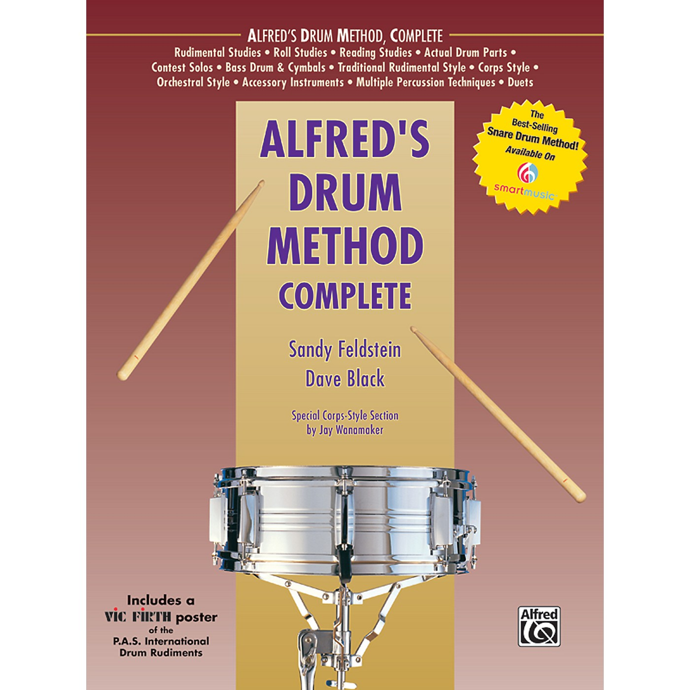 Alfred Alfred's Drum Method Complete Book & Rudiment Poster thumbnail