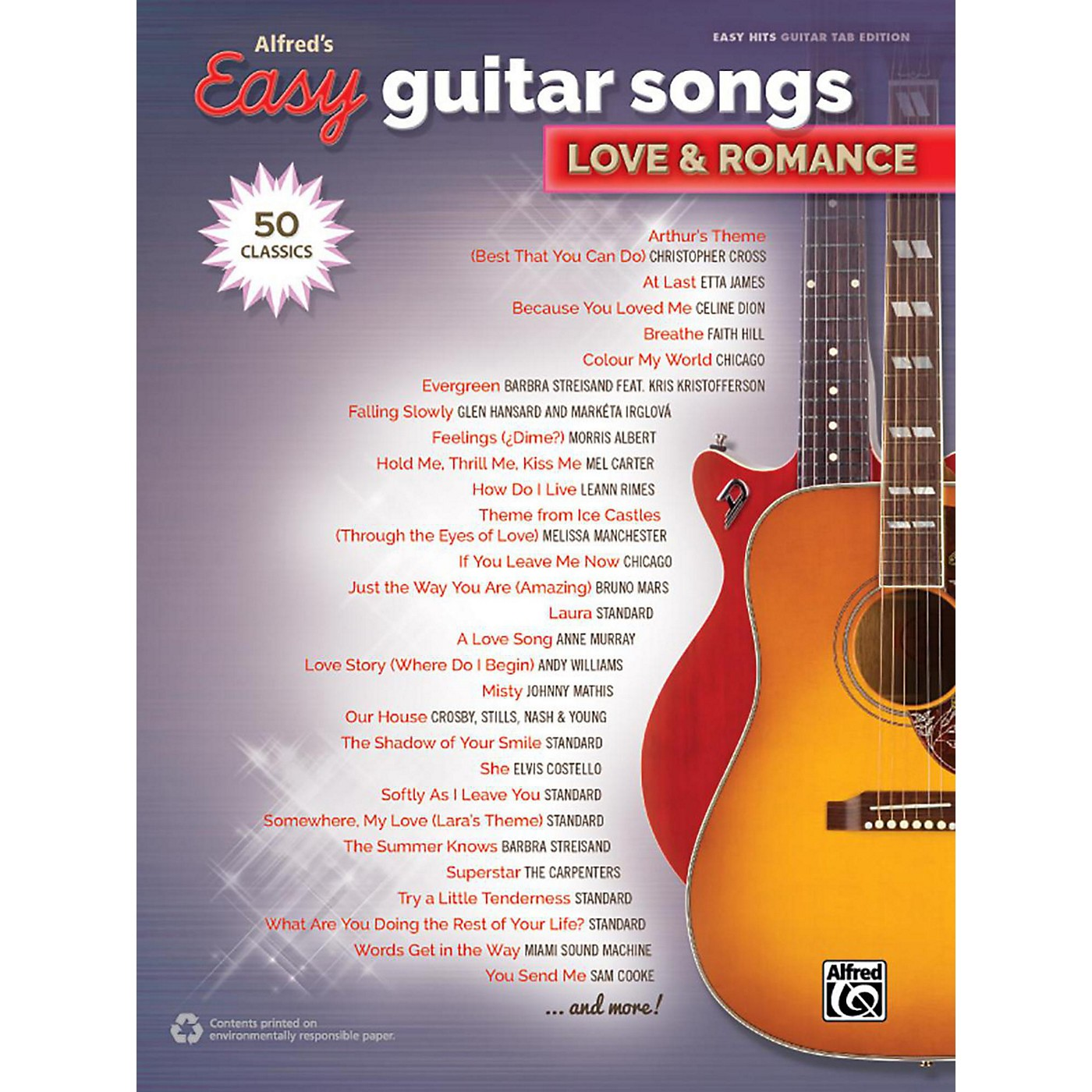 Alfred Alfred's Easy Guitar Songs - Love & Romance Easy Hits Guitar TAB Songbook thumbnail
