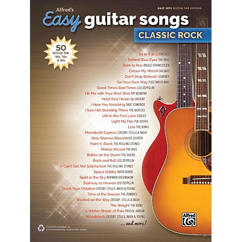 Alfred Alfred's Easy Guitar Songs: Classic Rock - Easy Hits Guitar TAB thumbnail