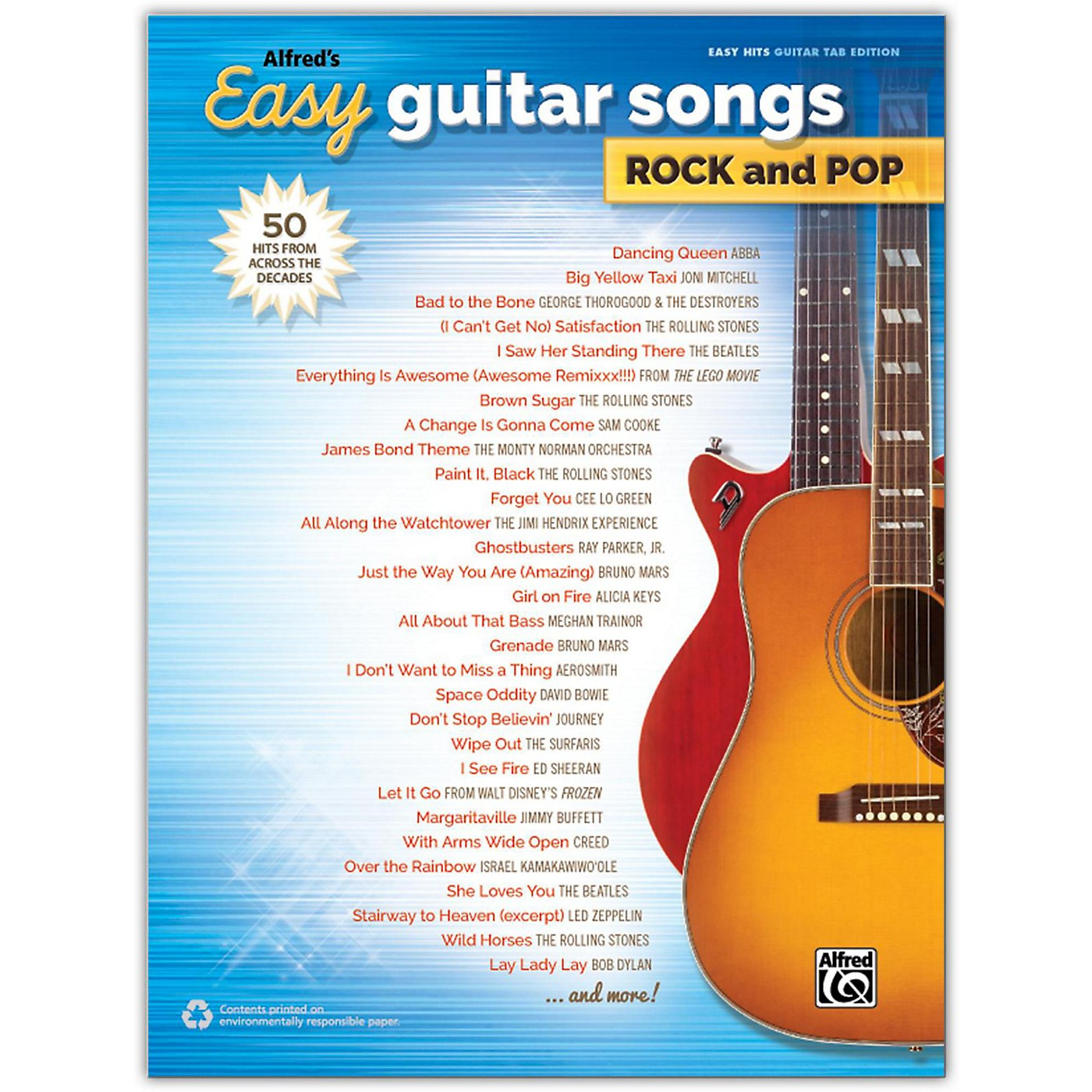 Alfred Alfred's Easy Guitar Songs: Rock and Pop, Easy Hits Guitar TAB Songbook thumbnail