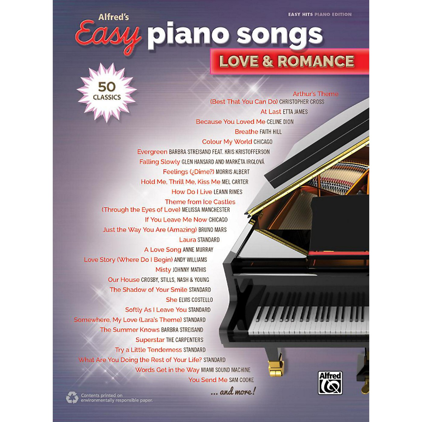 Alfred Alfred's Easy Piano Songs - Love & Romance Easy Hits Piano Songbook thumbnail