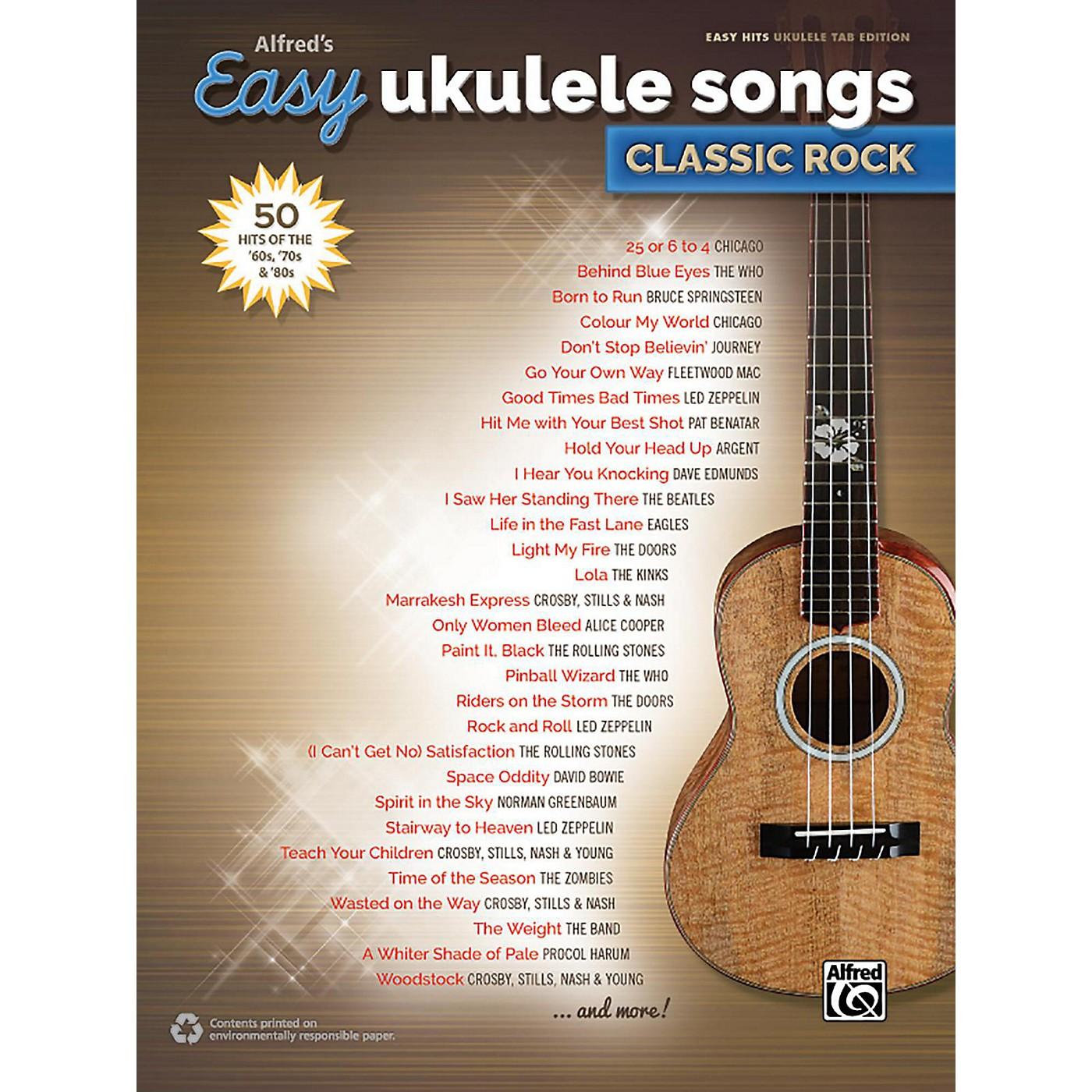 Alfred Alfred's Easy Ukulele Songs: Classic Rock - Easy Hits Ukulele TAB thumbnail