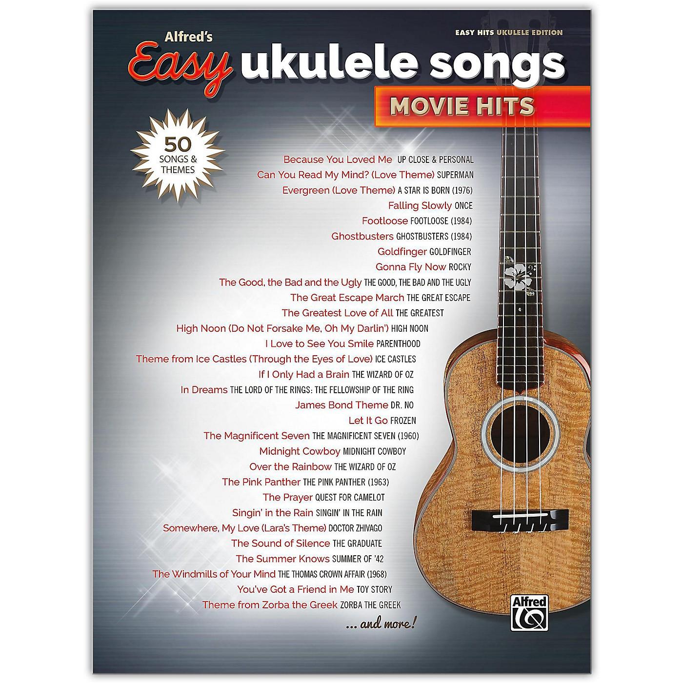 Alfred Alfred's Easy Ukulele Songs: Movie Hits Easy Hits Ukulele Songbook thumbnail