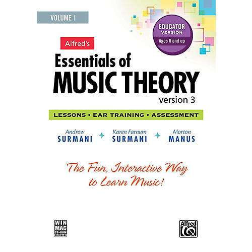 Alfred Alfred's Essentials of Music Theory: Software, Version 3 CD-ROM Educator Version, Volume 1 thumbnail