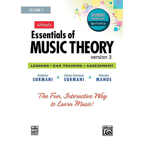 Alfred Alfred's Essentials of Music Theory: Software, Version 3 CD-ROM Student Version, Volume 1 thumbnail