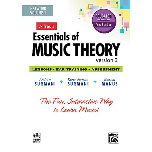 Alfred Alfred's Essentials of Music Theory: Software, Version 3 Network Version, Volume 1 (for 5 users) thumbnail