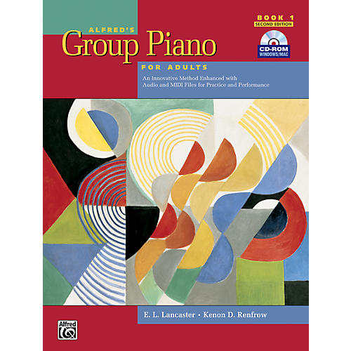 Alfred Alfred's Group Piano for Adults Student Book 1 (2nd Edition) Book 1 with CD-ROM thumbnail