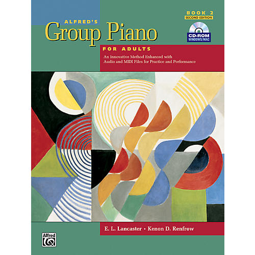 Alfred Alfred's Group Piano for Adults Student Book 2 (2nd Edition) Book 2 with CD-ROM thumbnail