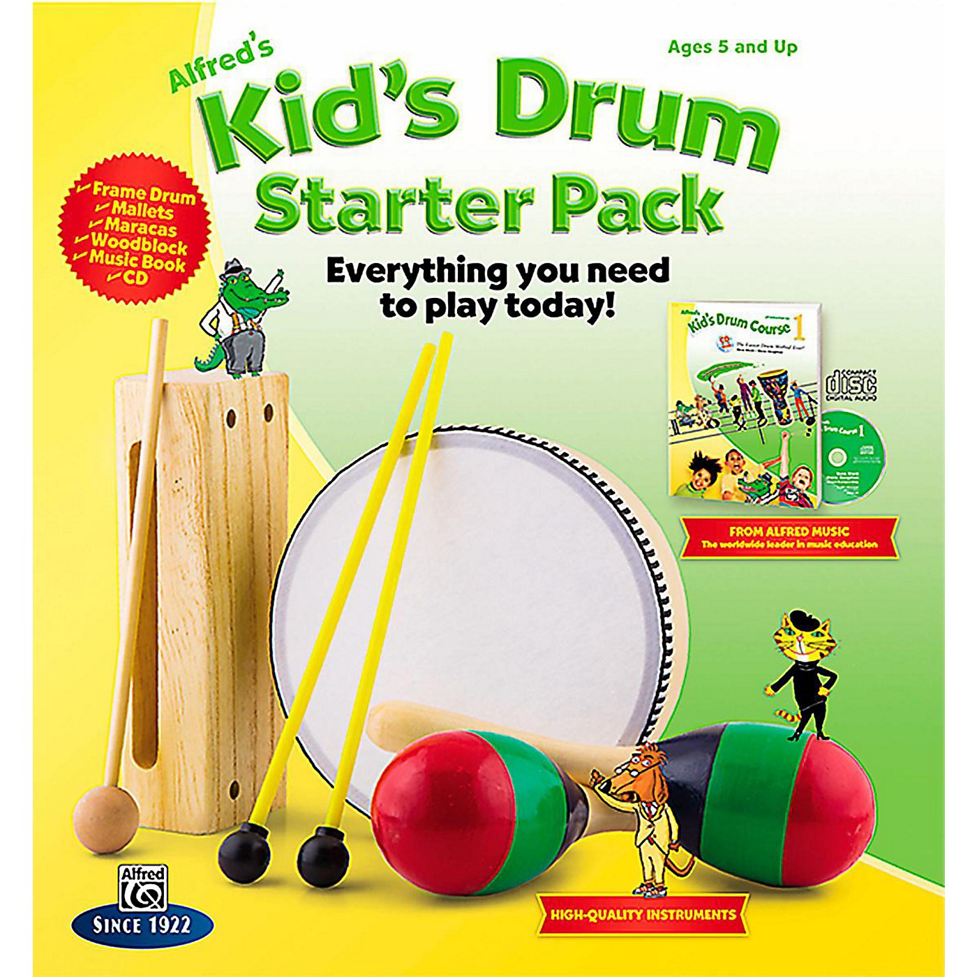 Alfred Alfred's Kid's Drum Course Complete Starter Pack thumbnail