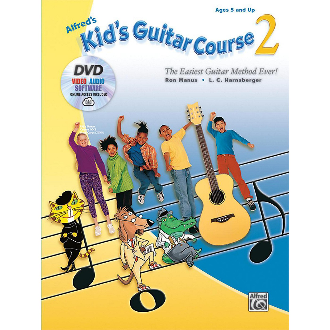 Alfred Alfred's Kid's Guitar Course 2 Book DVD & Online Audio Video & Software Beginner thumbnail