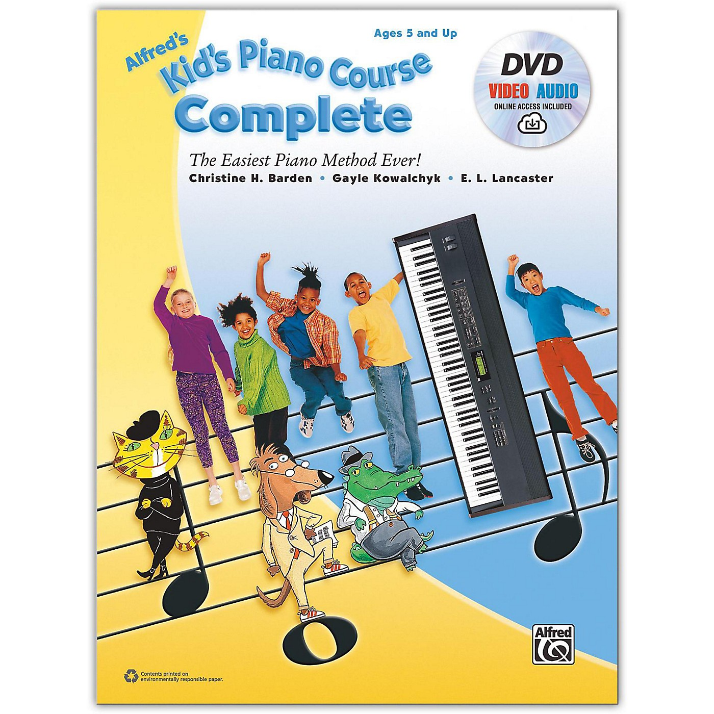 Alfred Alfred's Kid's Piano Course Complete Book, CD & DVD thumbnail