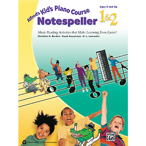 Alfred Alfred's Kid's Piano Course Notespeller 1 & 2 Book thumbnail