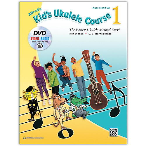 Alfred Alfred's Kid's Ukulele Course 1 - Book, DVD & Online Audio & Video thumbnail