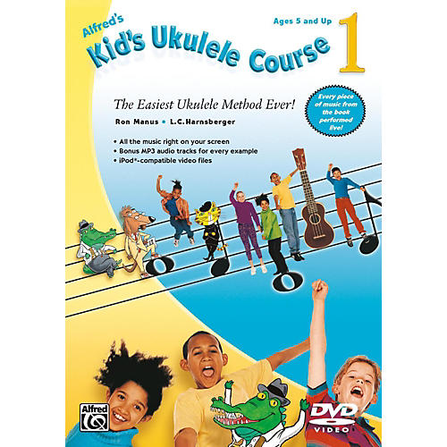 Alfred Alfred's Kid's Ukulele Course 1 DVD Beginner thumbnail