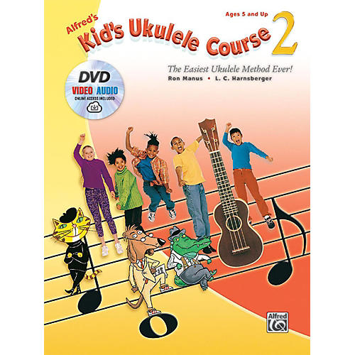 Alfred Alfred's Kid's Ukulele Course 2 Book DVD & Online Audio & Video thumbnail