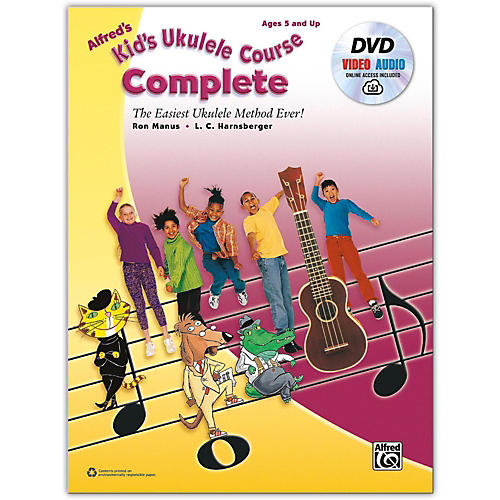 Alfred Alfred's Kid's Ukulele Course, Complete Book, DVD & Online Audio & Video Beginner thumbnail