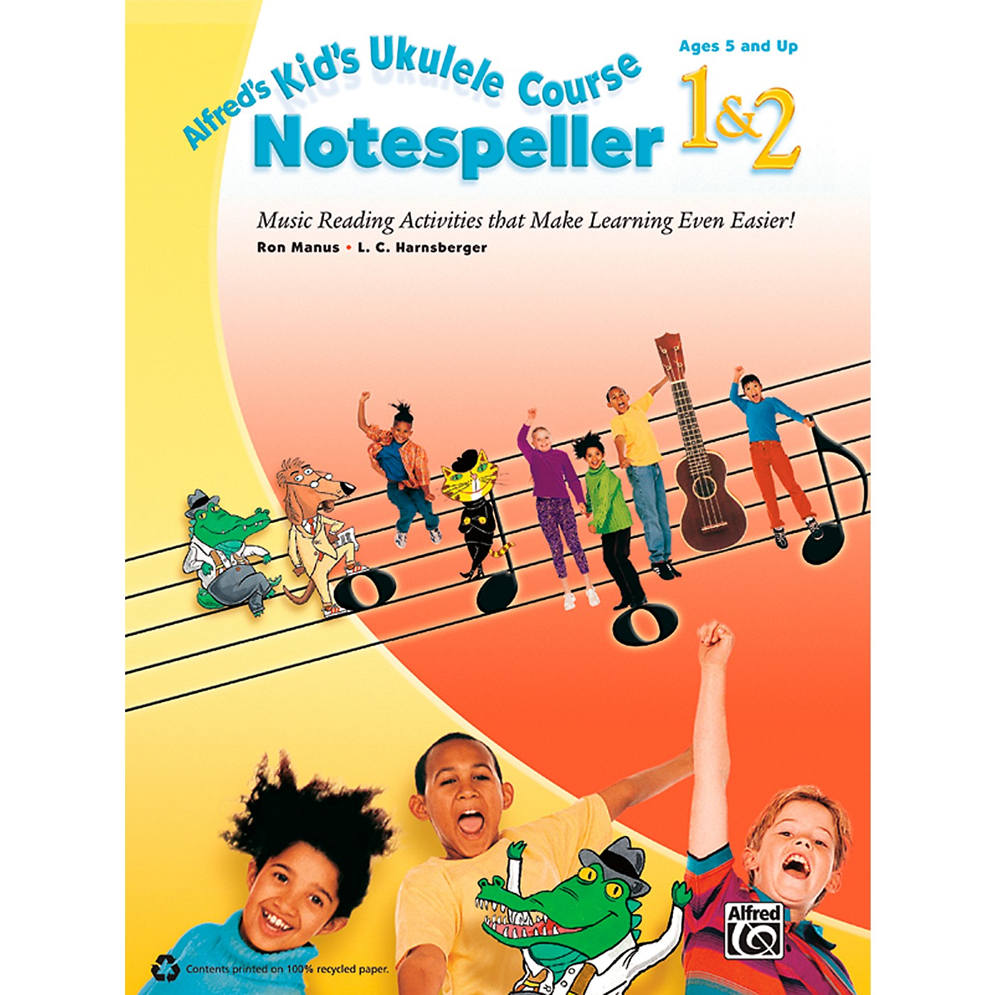 Alfred Alfred's Kid's Ukulele Course Notespeller 1 & 2 Book thumbnail