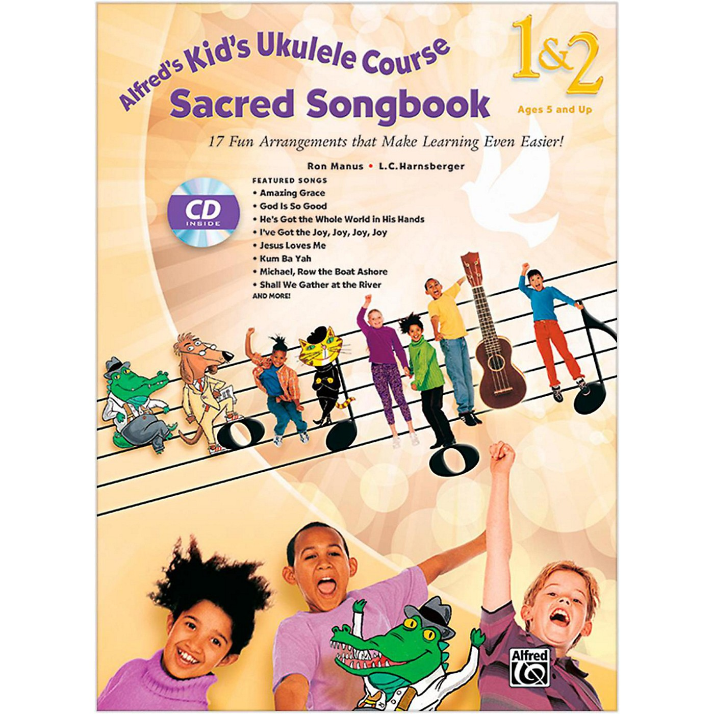 Alfred Alfred's Kid's Ukulele Course Sacred Songbook 1 & 2 Book & CD thumbnail