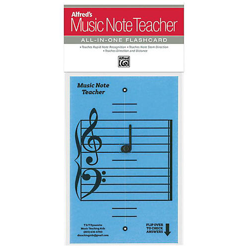 Alfred Alfred's Music Note Teacher All-In-One Flashcard Blue thumbnail