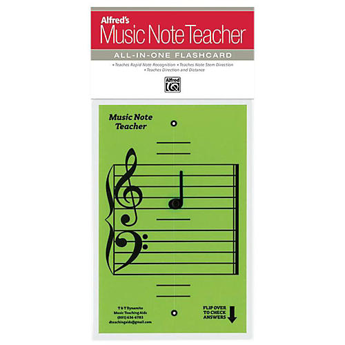 Alfred Alfred's Music Note Teacher All-In-One Flashcard Green thumbnail