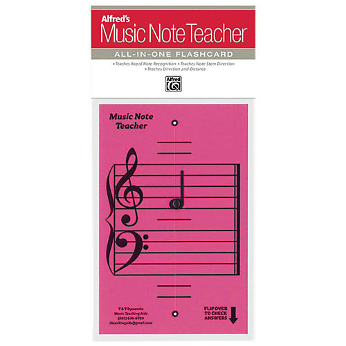 Alfred Alfred's Music Note Teacher All-In-One Flashcard Pink-thumbnail