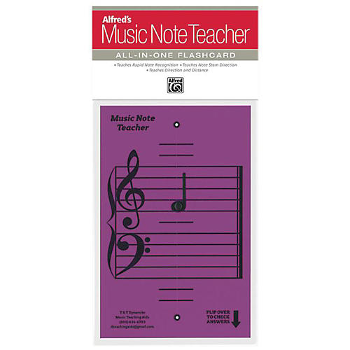 Alfred Alfred's Music Note Teacher All-In-One Flashcard Purple thumbnail