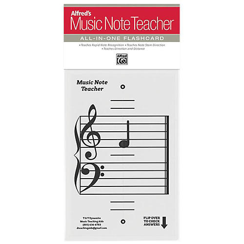 Alfred Alfred's Music Note Teacher All-In-One Flashcard White thumbnail