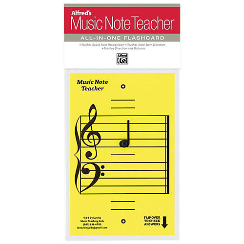 Alfred Alfred's Music Note Teacher All-In-One Flashcard Yellow thumbnail