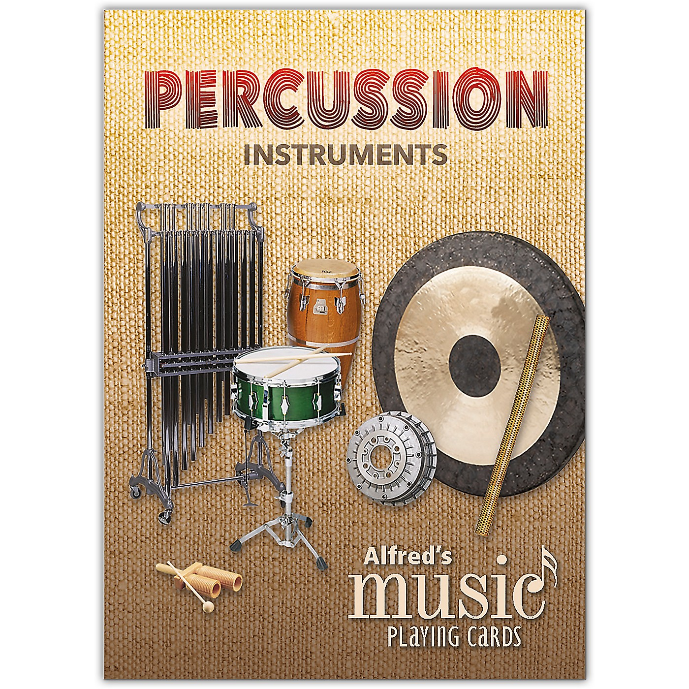 Alfred Alfred's Music Playing Cards: Percussion Instruments Card Deck (1 Pack) thumbnail