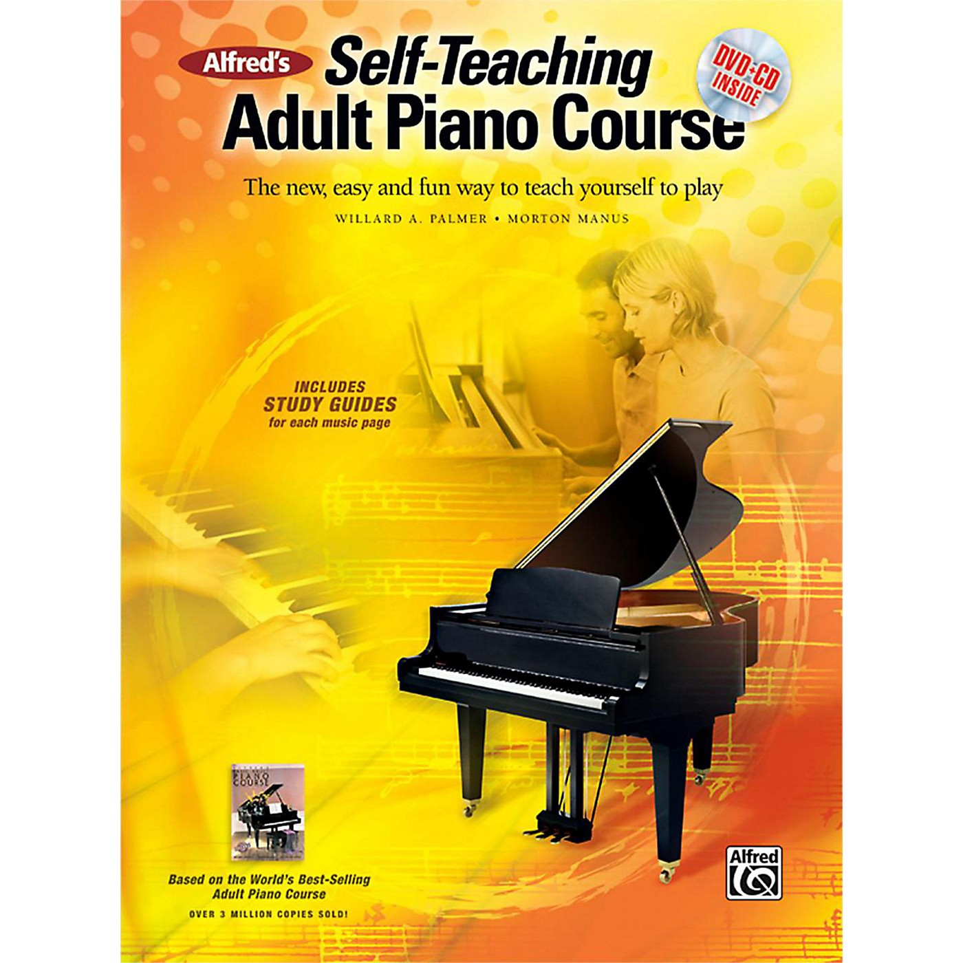 Alfred Alfred's Self-Teaching Adult Piano Course Book, CD & DVD thumbnail