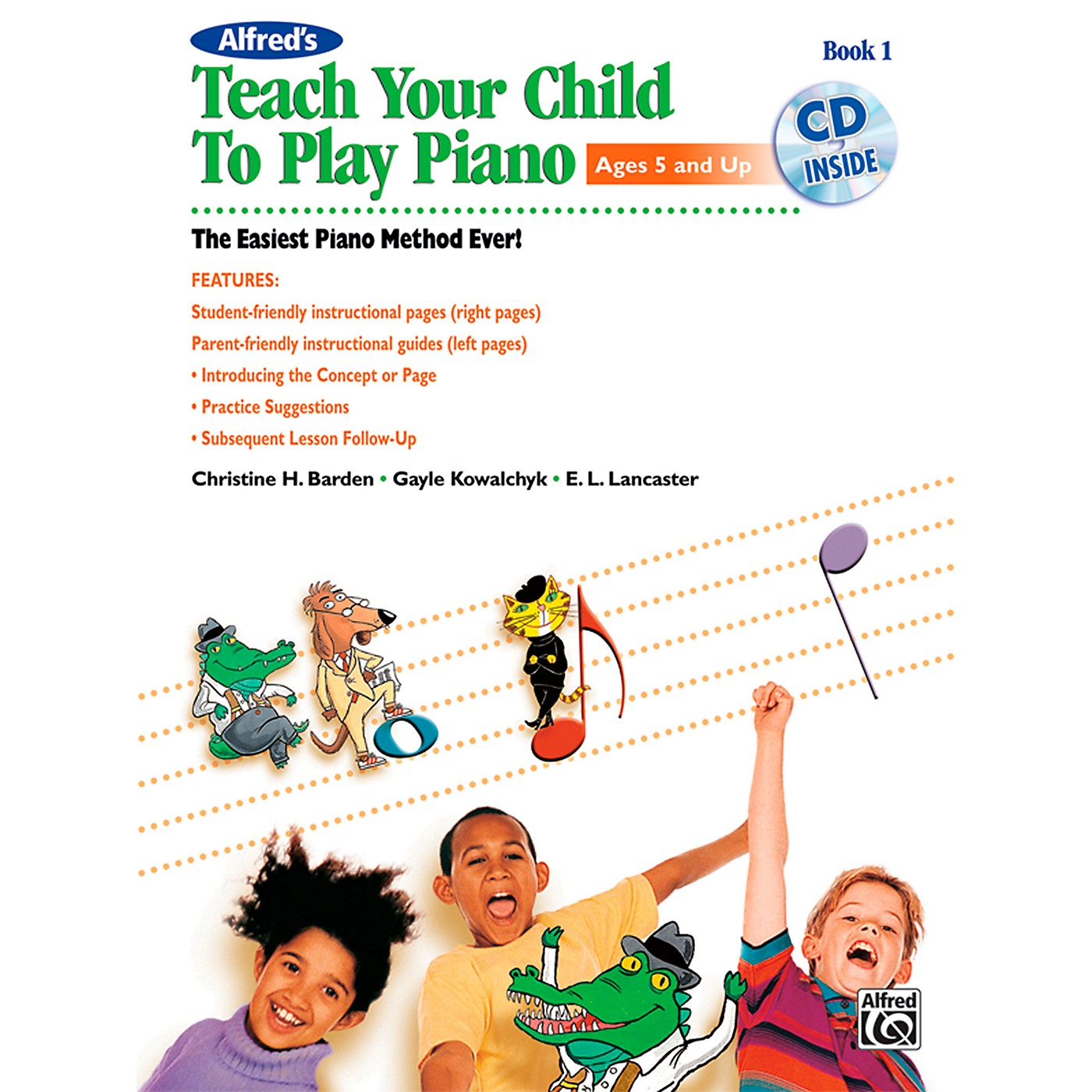 Alfred Alfred's Teach Your Child to Play Piano Book 1 Book & CD thumbnail