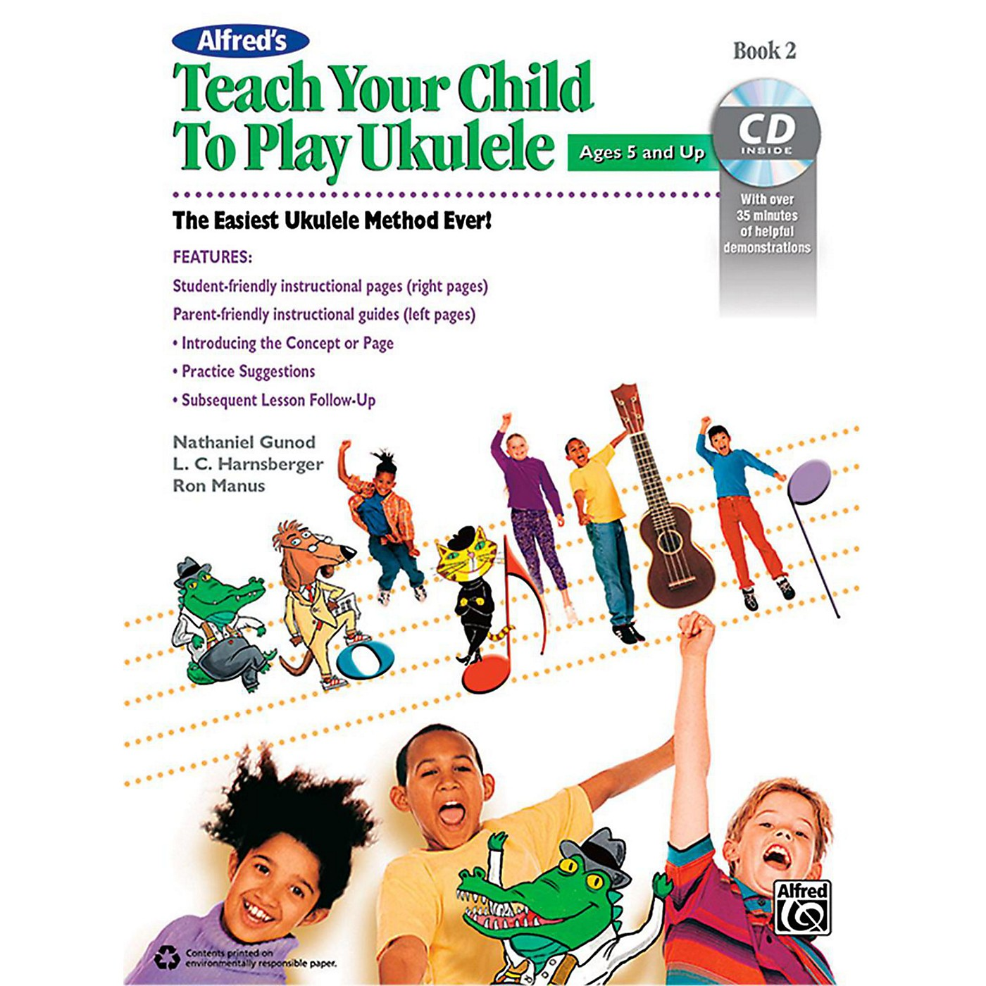 Alfred Alfred's Teach Your Child to Play Ukulele Book 2 & CD thumbnail