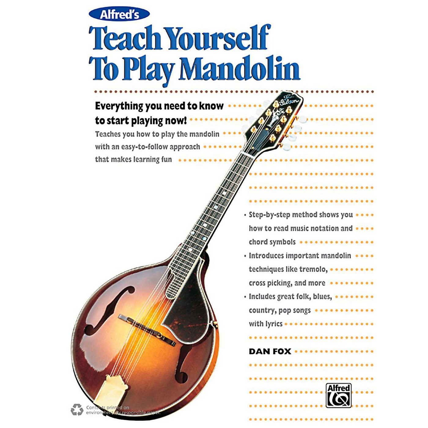 Alfred Alfred's Teach Yourself to Play Mandolin Book, CD & DVD thumbnail