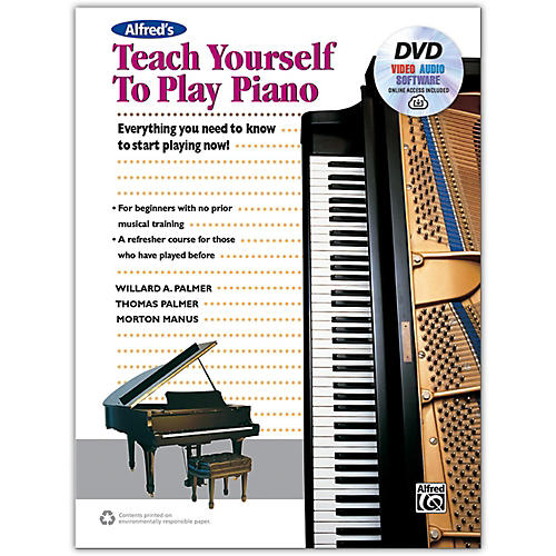 Alfred Alfred's Teach Yourself to Play Piano - Book, DVD & Online Audio, Video & Software thumbnail