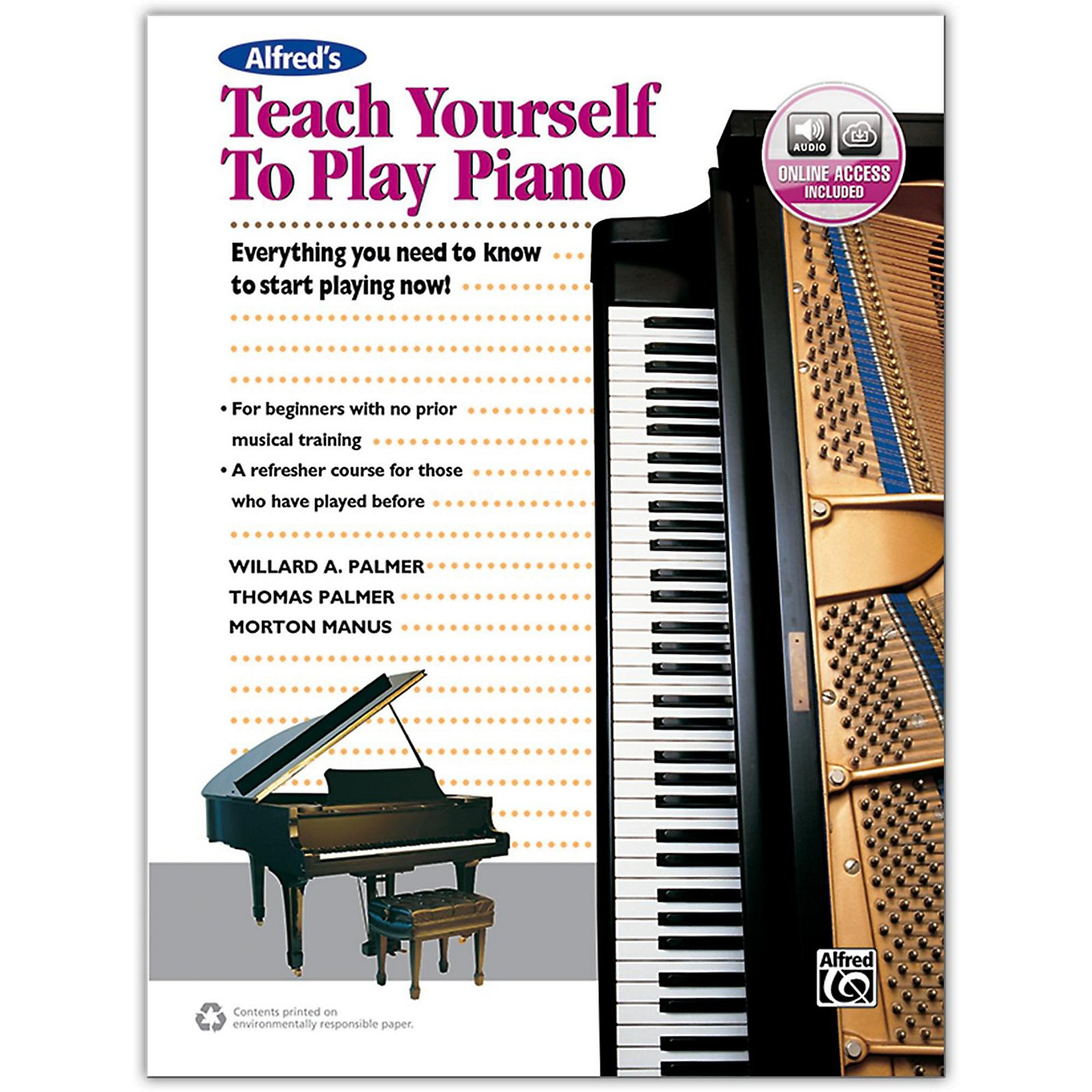 Alfred Alfred's Teach Yourself to Play Piano - Book & Online Audio thumbnail