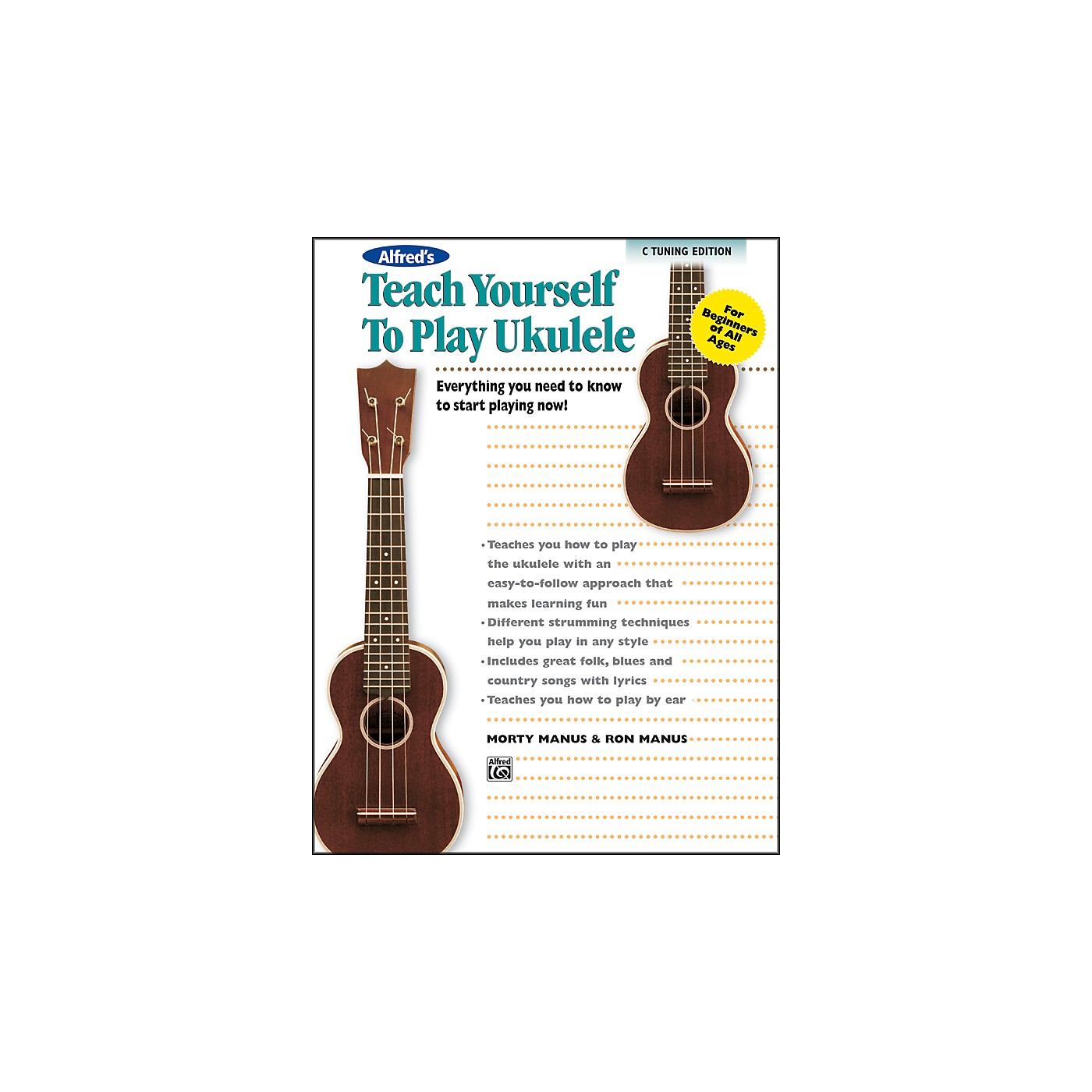 Alfred Alfred's Teach Yourself to Play Ukulele C-Tuning Edition Book & CD thumbnail