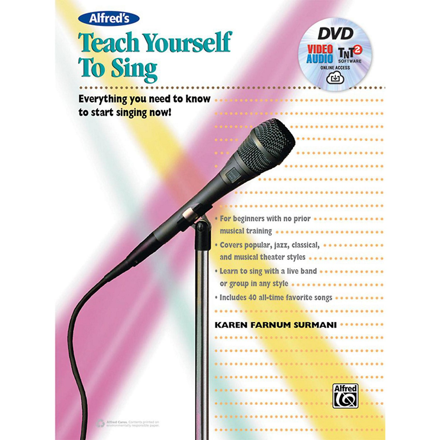 Alfred Alfred's Teach Yourself to Sing Book, DVD & Online Audio, Video & Software thumbnail