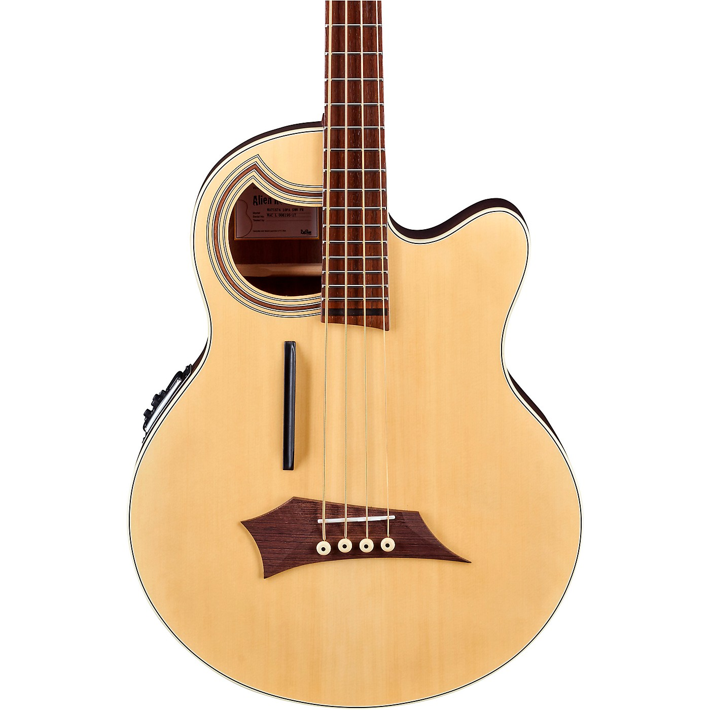 Warwick Alien Deluxe Thinline 4-String Acoustic-Electric Bass thumbnail