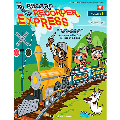 Hal Leonard All Aboard The Recorder Express - Seasonal Collection for Recorders, Volume 1 (Book/CD)-thumbnail