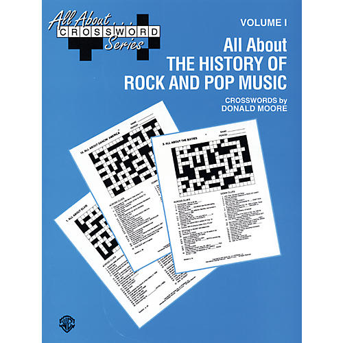 Alfred All About . . . Crossword Series Volume I All About the History of Rock and Pop Music Book-thumbnail