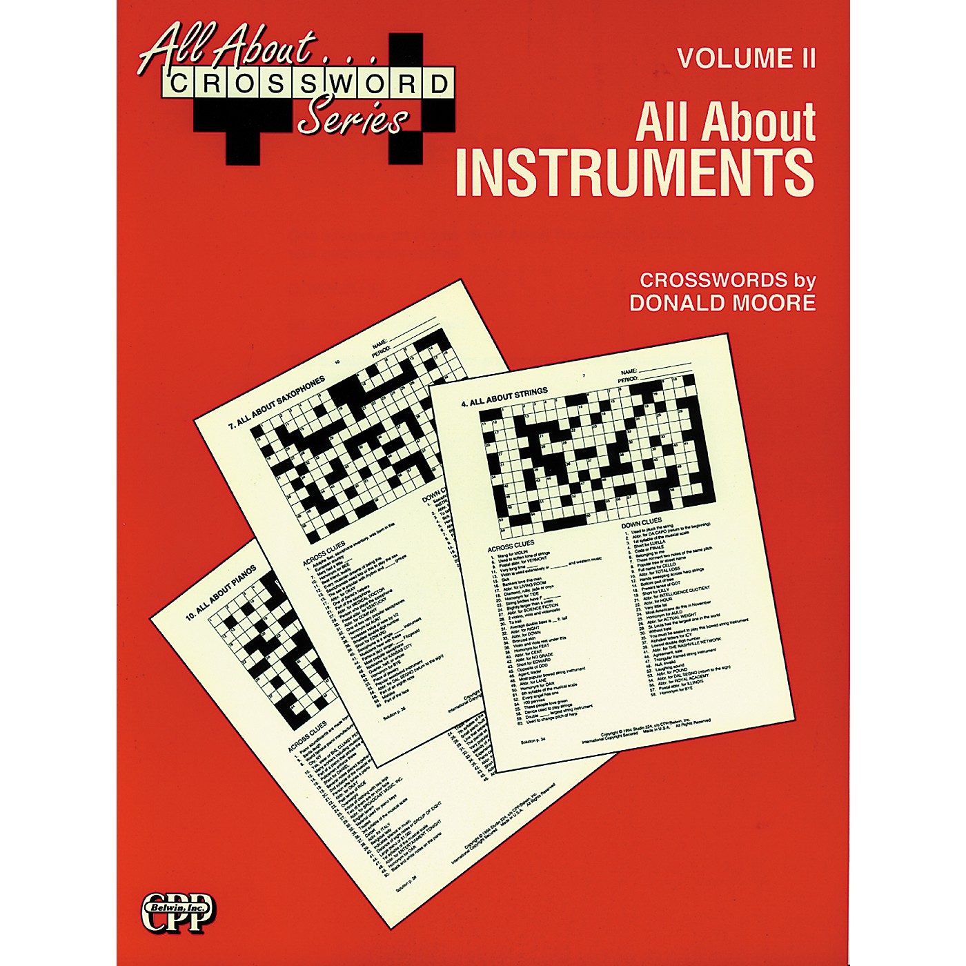 Alfred All About ... Crossword Series, Vol. II All About Instruments Music Game Book thumbnail